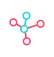 molecule logo connection logo icon template vector image