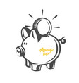 money box black and white objects vector image vector image