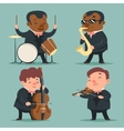 Music Artist Player Concept Character Icons Set vector image vector image