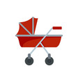 new baby carriage icon flat style vector image