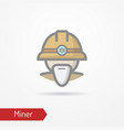 old miner face icon vector image vector image