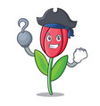 pirate tulip character cartoon style vector image vector image