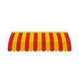 red yellow street tent icon flat style vector image vector image