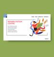 rehabilitation center or rehab clinic vector image vector image