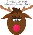 Reindeer Games vector image vector image