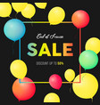 sale banner template design end of season special vector image vector image