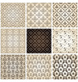 Seamless vintage backgrounds set brown baroque pat vector | Price: 1 Credit (USD $1)