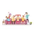 sedentary lifestyle retro cartoon design vector image vector image