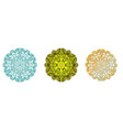 set of flower mandala on white background vector image