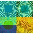 Set Vintage Colored Rays background EPS10 vector image