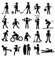 sport silhouettes black simple icons set eps10 vector image vector image