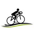 stylized bike race template vector image