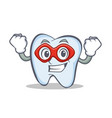 super hero tooth character cartoon style vector image vector image