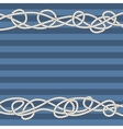 Tangled marine ropes borders for text vector image vector image