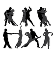 Tango Dancers Silhouette vector image vector image