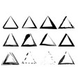 triangular stamps collection set grunge triangles vector image