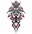 Tribal tattoo red black vector image vector image