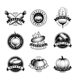 Vegetable Emblems Isolated Set vector image