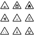 warning icon set vector image
