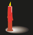 wax candle on a white background candle burning vector image vector image