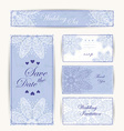 Wedding invitation thank you card save the date vector image vector image