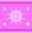 winter knitted pink pattern vector image