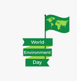 world environment day 5th june flag with a world vector image