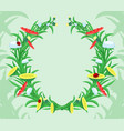 wreath flowers and herbs vector image