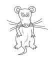 sketch of the mouse vector image
