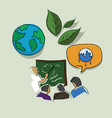 education and training on global warming eco vector image
