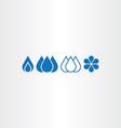 water drop set icons vector image