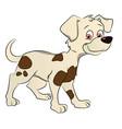 a cute dog vector image
