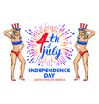 a girl celebrating independence day poster vector image vector image