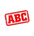 Abc rubber stamp vector image vector image