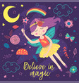 basic rgbposter with magic night fairy vector image vector image
