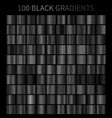 black gradients 100 big set vector image vector image
