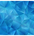 blue polygonal mosaic background creative design vector image