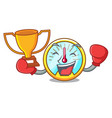 boxing winner speedometer on a in cartoon vector image