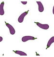 calligraphy eggplant colour natural pattern vector image vector image