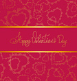 Card of hearts for Valentines day vector image vector image