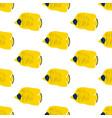 chaetodon auriga butterflyfish seamless pattern vector image vector image