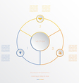 Circle from 3 coloured lines vector image vector image