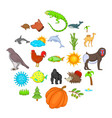 climate icons set cartoon style vector image vector image