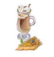 coffee affogato and buttermilk pie vector image vector image