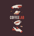 coffee template label logo tag vintage logo vector image