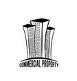 commercial property vector image vector image