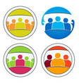 community people together vector image vector image