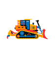 construction machinery bulldozer commercial vector image vector image