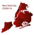 coronavirus in new york city map with random vector image