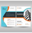 corporate brochure cover layout template modern vector image